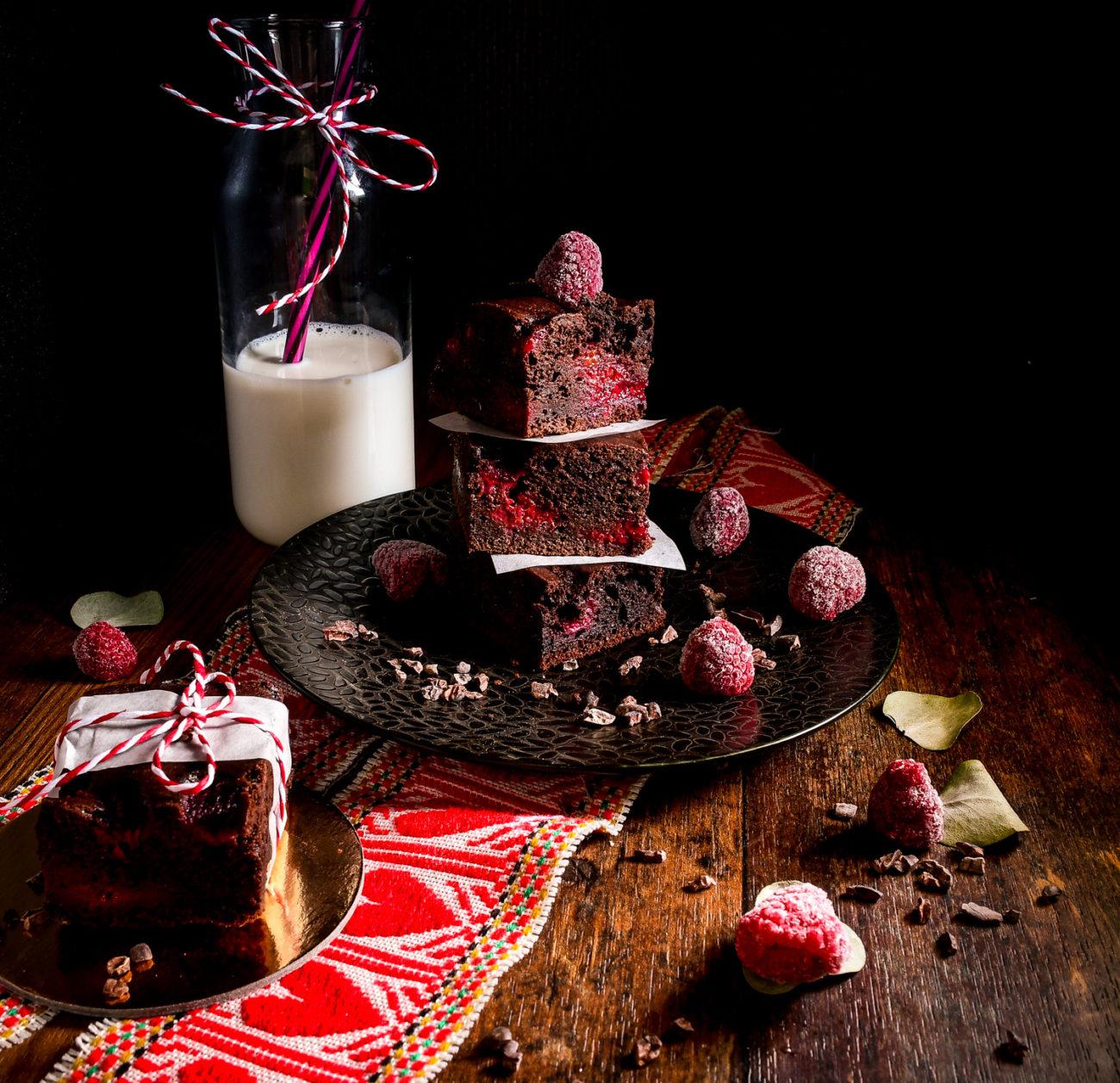 Malinasti brownie