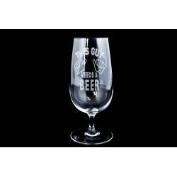 Čaša za pivo, gravirana - M1