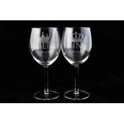Čaša za vino, Queen & King